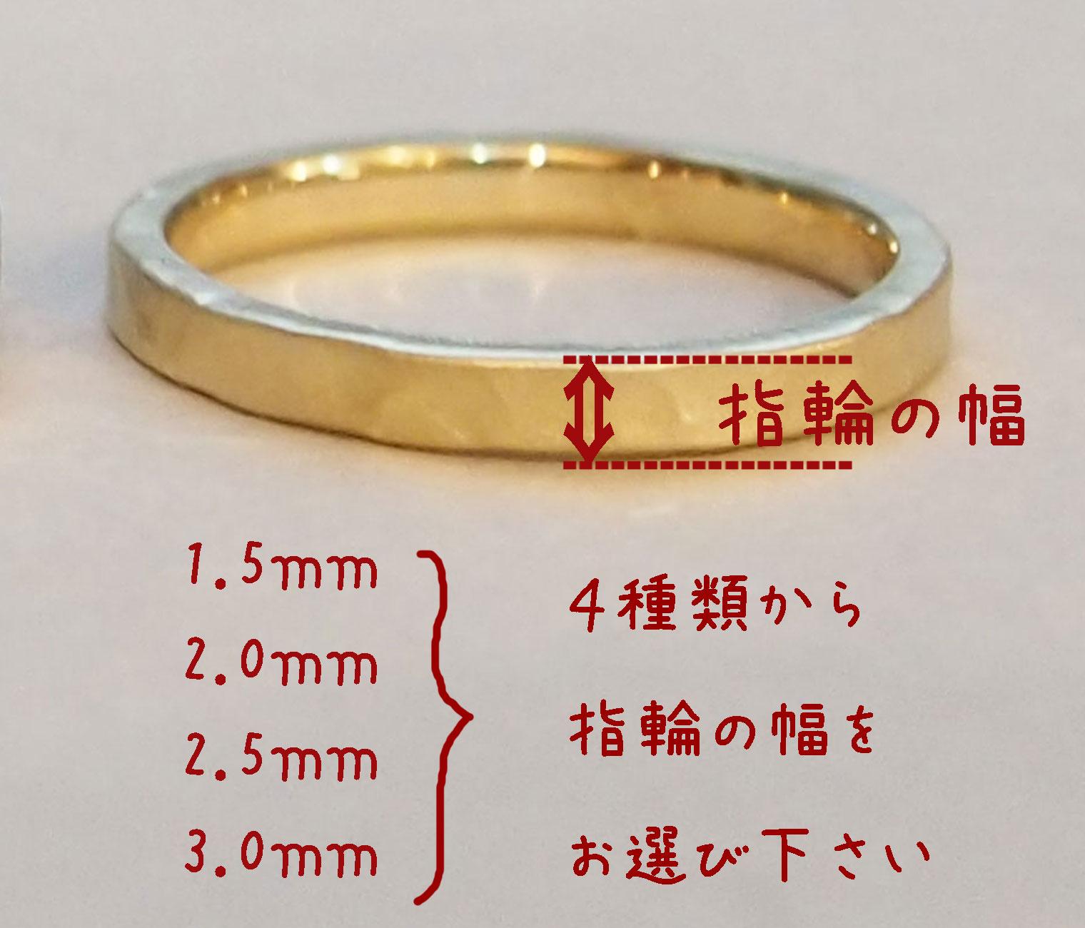 指輪 幅の説明