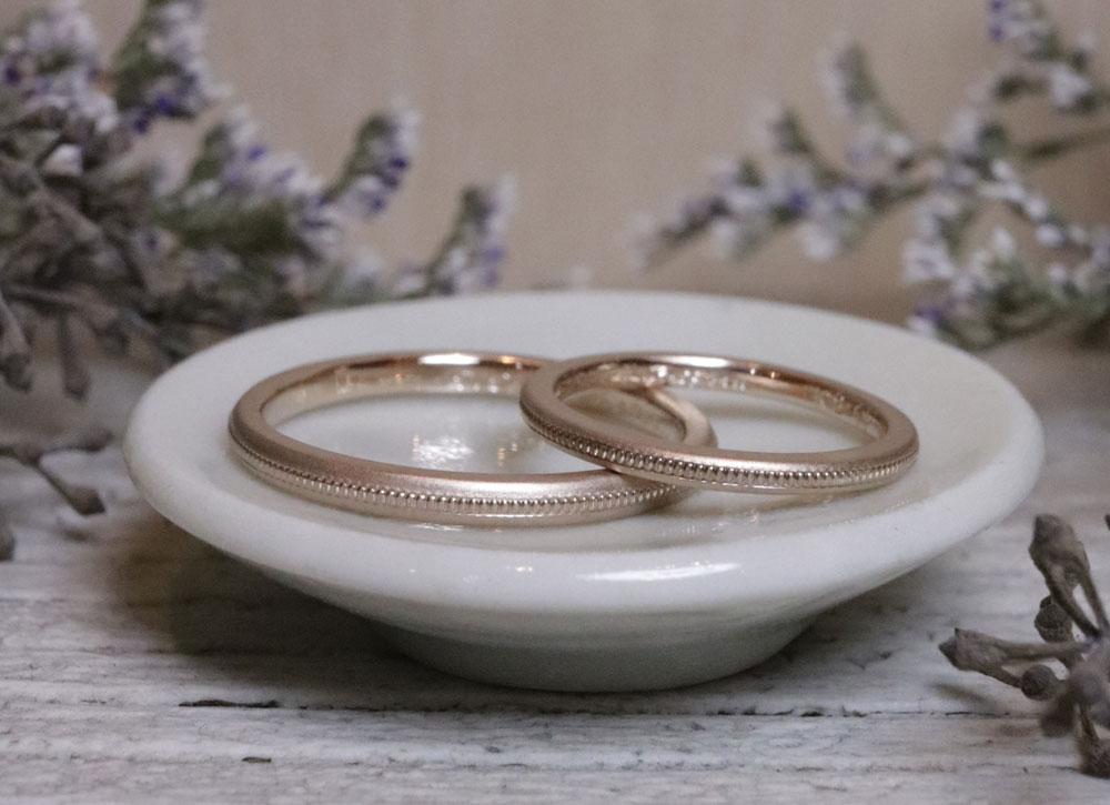 ゴールド 結婚指輪 ミル