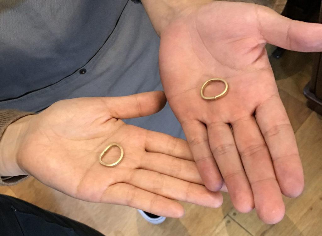 指輪 製作途中