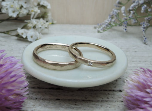 ピンクゴールド 手作り 指輪