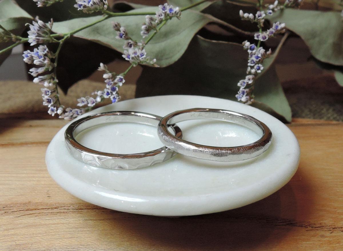 プラチナ 結婚指輪 手作り