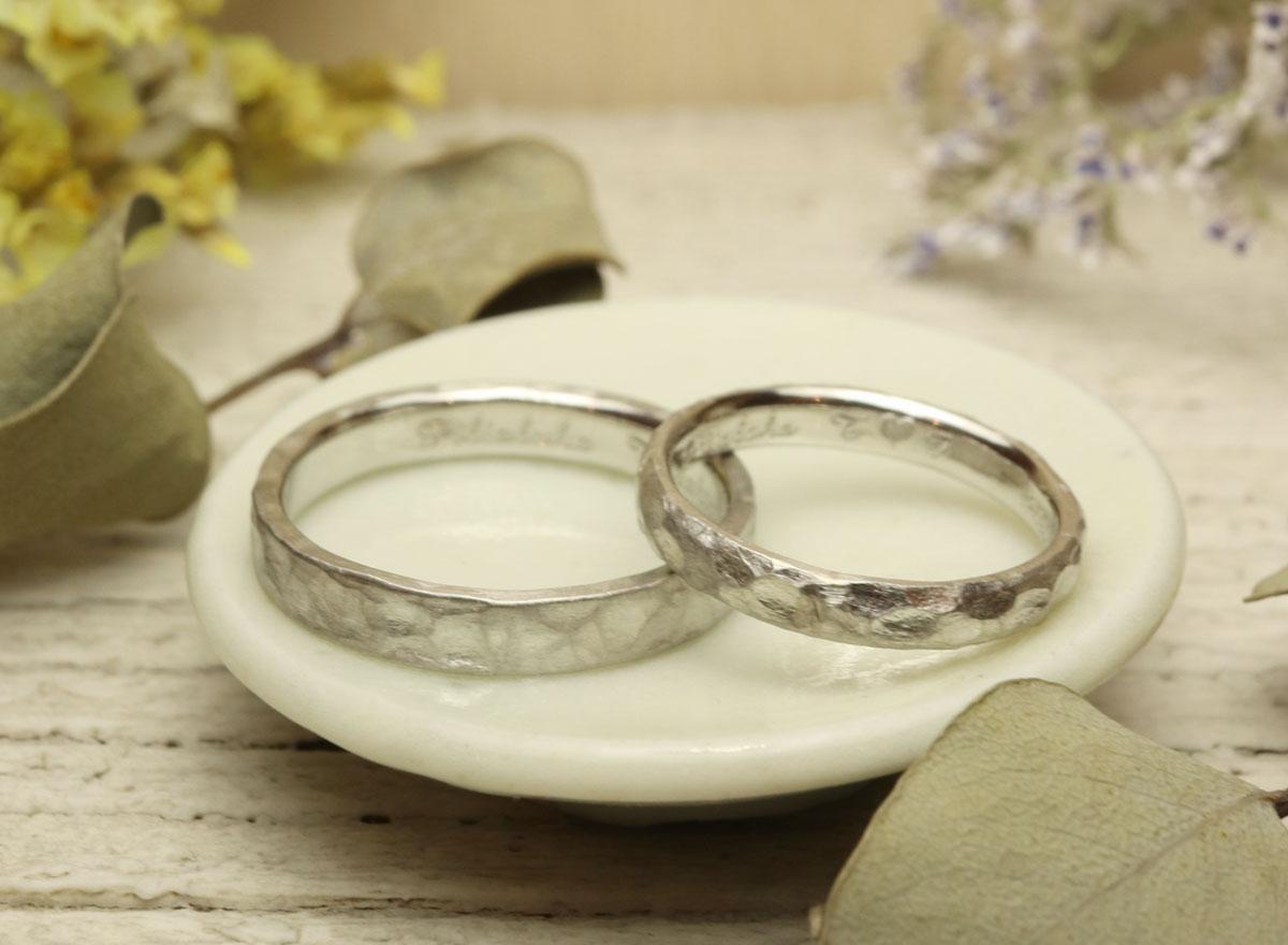 槌目 指輪