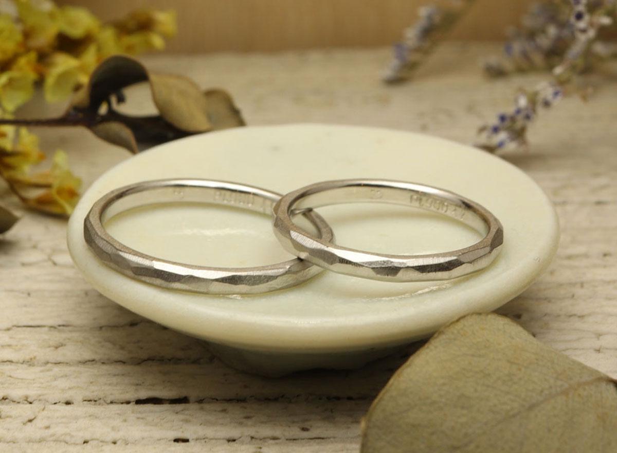 結婚指輪 プラチナ 手作り