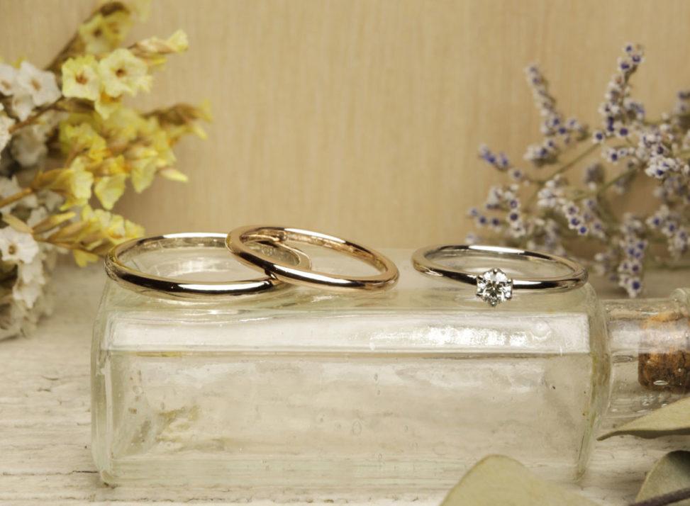 結婚指輪 婚約指輪 自分たちで