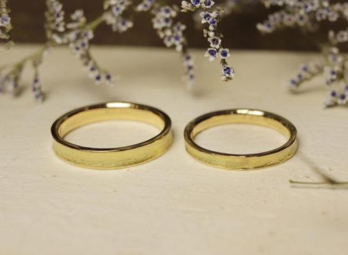 中凹み 結婚指輪