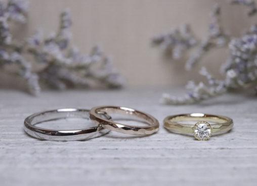 ダイヤはミルフチタイプの婚約指輪
